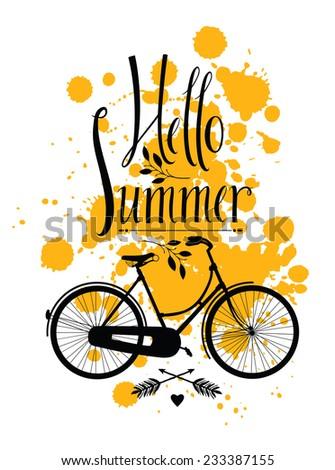 Hello Summer - stock vector