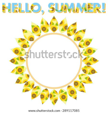 Hello, Summer! - stock vector