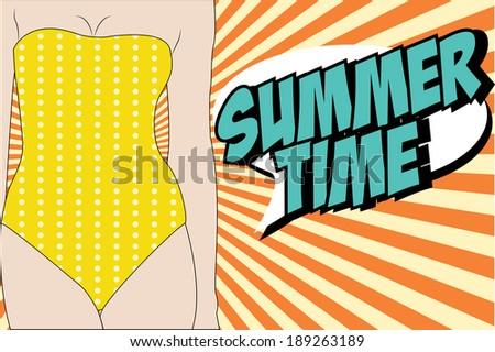 hello summer sunny background, illustration in vector format. - stock vector