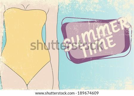 hello summer sunny background, illustration in vector format  - stock vector