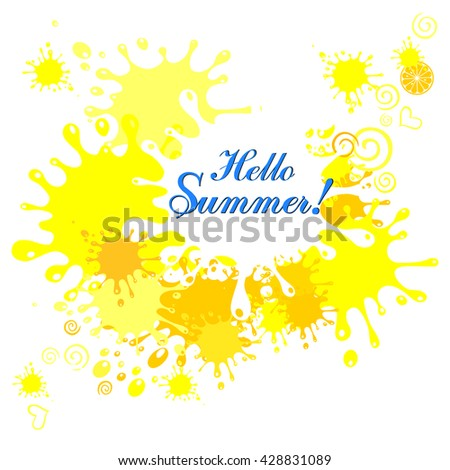 Hello Summer! Vector Illustration