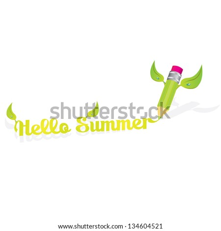 hello summer vector illustration for your design. summer abstract background for banner or website. - stock vector