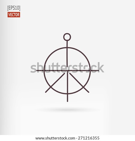 Helm and anchor design  element - stock vector