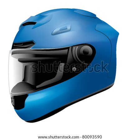 helmet bike, motorbike - stock vector