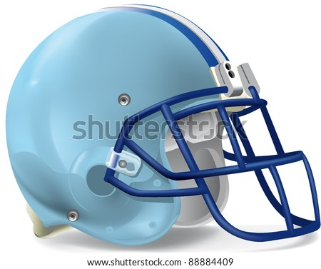 Helmet football equipment - stock vector
