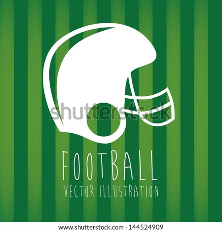 helmet football over green background vector illustration - stock vector