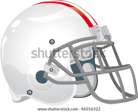 helmet football team withe - stock vector