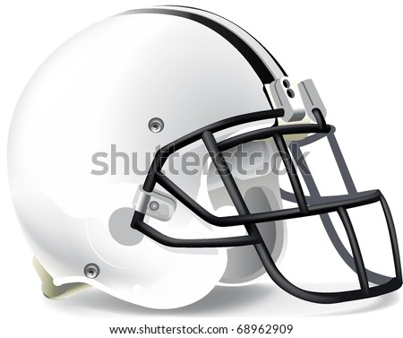 Helmet football withe black mask withe line - stock vector