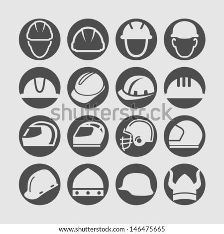 Helmet icon - stock vector