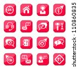 Help and Support Vector Icon Set for web and mobile. All elements are grouped. - stock vector