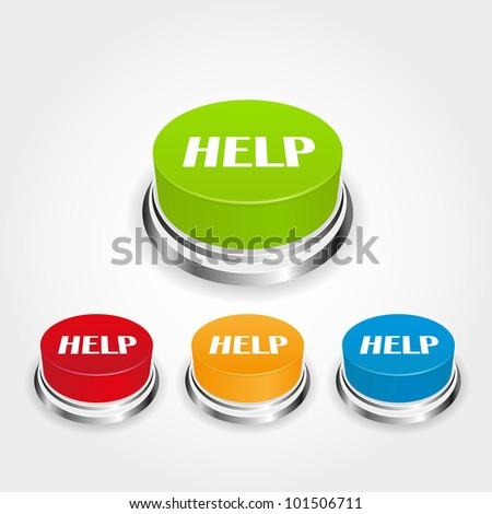 help button - stock vector