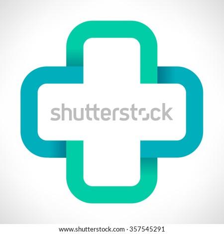 Help cross or pharmacy  - stock vector
