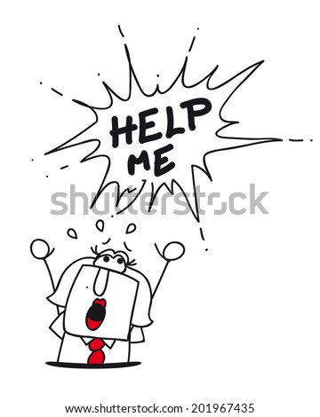 help Karen.This businesswoman fall into a hole and have a big problem - stock vector