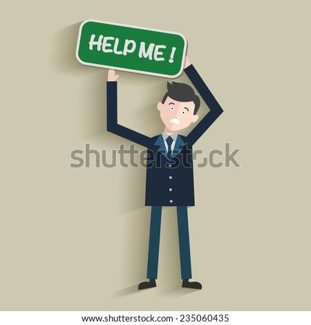 Help me,Human resource,Businessman design,clean vector - stock vector