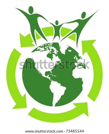 Help the world together concept - stock vector