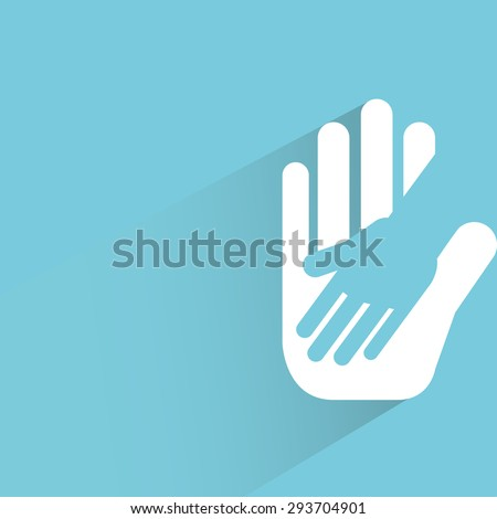 helping hand  - stock vector
