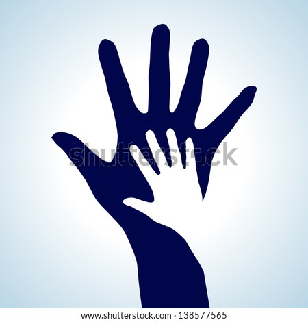 Helping Hands. Creative illustration for best design idea