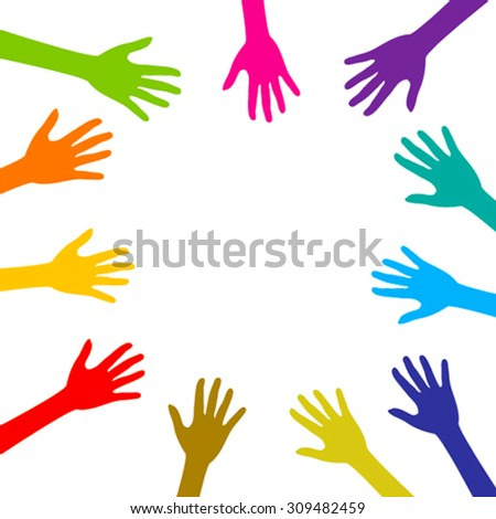 helping or caring hand background vector design - stock vector