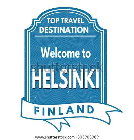 Helsinki grunge rubber stamp on white background, vector illustration - stock vector
