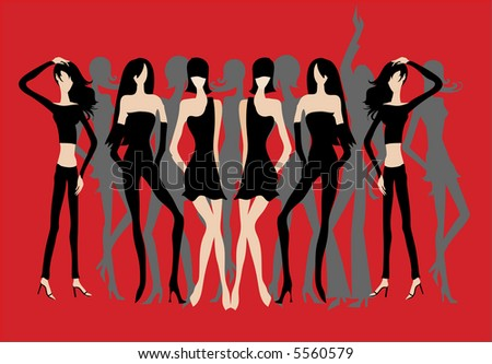 Hen night out - stock vector