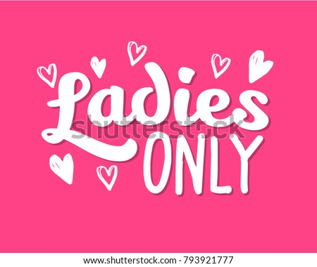 Invitation Cards For Ladies Party. Hen Party Ladies only Bachelorette vector element for cards  t shirts stickers Only Vector Stock 793921777
