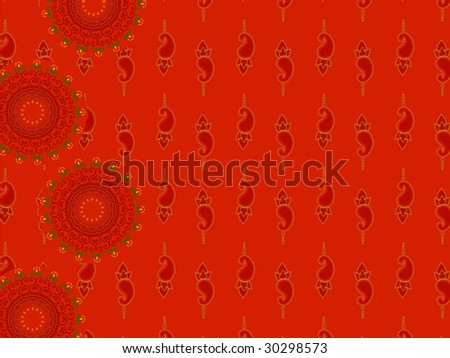 Henna Abstract paisley background design - stock vector