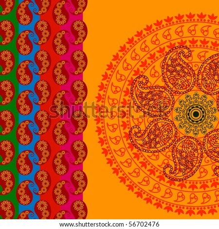 Henna Abstract paisley design - stock vector