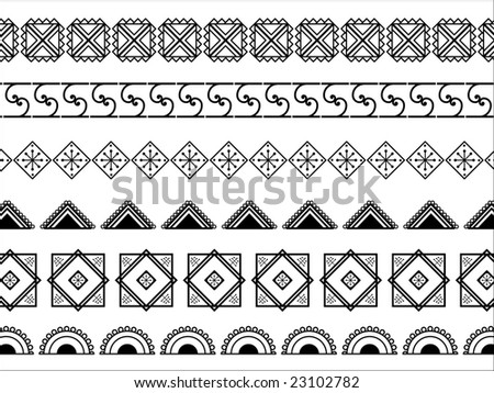 Simple African Border Designs Henna Border Designs African