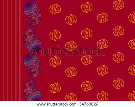Henna design inspired background - stock vector