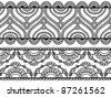 Henna inspired banners/borders - very elaborate and easily editable - stock vector