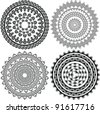 Henna Mandala, Henna inspired Mandala - very elaborate and easily editable - stock vector