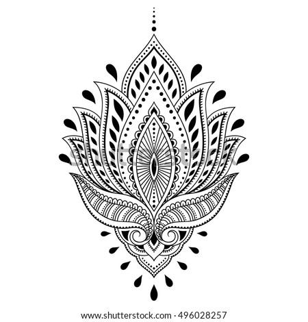 Henna lotus flower outline lotus flower henna tattoo designs sketch henna lotus flower outline download mightylinksfo