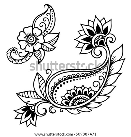 henna tattoo flower templatemehndi stock vector 330902639 shutterstock. Black Bedroom Furniture Sets. Home Design Ideas