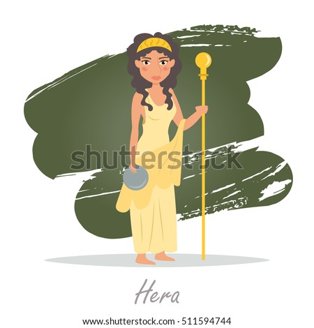 hera greek gods vector illustration cartoon stock vector hd royalty rh shutterstock com cartoon hera greek goddess shera cartoon character