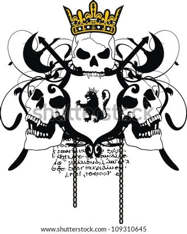 heraldic coat of arms in vector format - stock vector