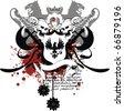 heraldic eagle coat of arms tshirt in vector format - stock vector