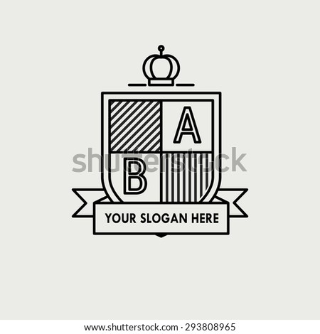 Heraldic sign - stock vector