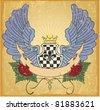 Heraldic symbol - stock vector