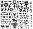Heraldic symbols and elements - stock photo