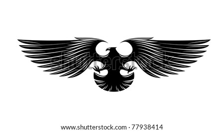 Heraldry eagle symbol, such  a logo. Jpeg version also available - stock vector