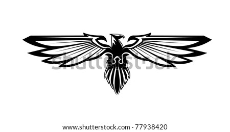 Heraldry eagle symbol, such a logo. Jpeg version also available