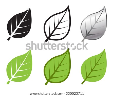 Herb leaf icon in many style, Vector illustration - stock vector