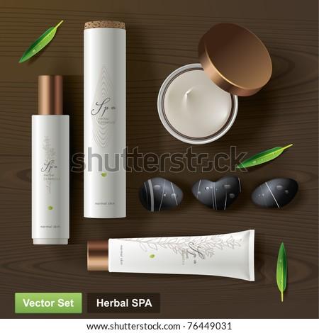 Herbal SPA. Vector set - stock vector