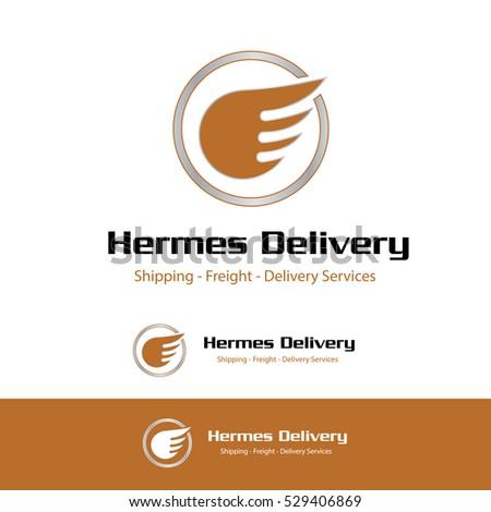 HERMES WINGS TRANSPORTATION SYMBOL / LOGO VECTOR DESIGN