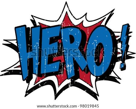 hero - stock vector