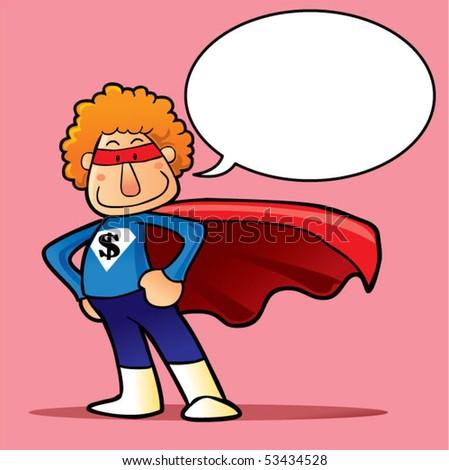 hero cartoon - stock vector