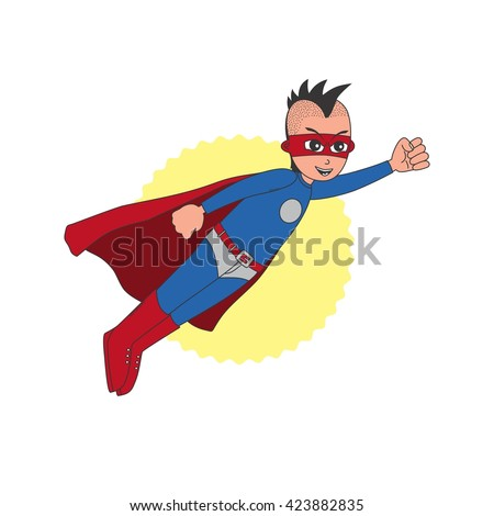 hero guy cartoon