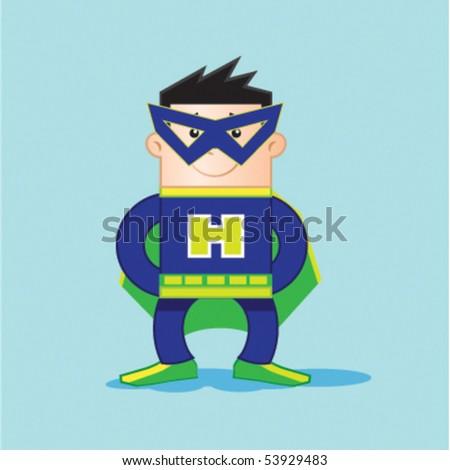 Hero man - stock vector