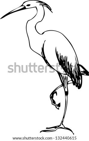 heron vector - stock vector