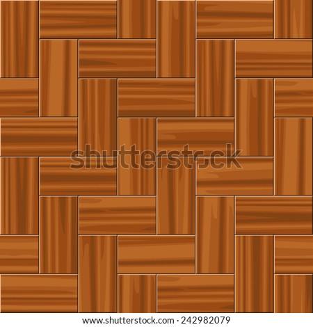 Herring-bone parquet tiling. Seamless vector texture - stock vector